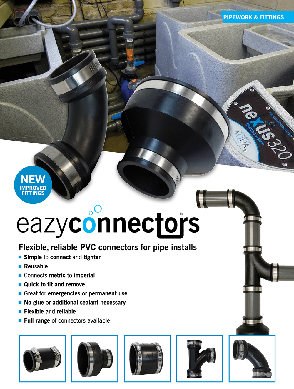 Evolution Aqua Eazy Connectors, epdm spojky čehokoliv