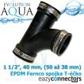 EA EPDM spojka - Téčko 1 1/2, 40 mm, (50 až 38 mm)