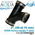 EA EPDM spojka - Téčko 3, (90 až 75 mm)