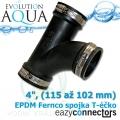 EA EPDM spojka - Téčko 4, (115 až 102 mm)