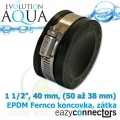 EA EPDM koncovka 1 1/2, 40 mm, (50 až 38 mm)