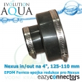 EA EPDM spojka - Nexus vstup/výstup na 4, 125 na 110 mm