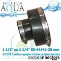EA EPDM spojka 1 1/2 na 1 1/4, eazy connector pro spoj čehokoliv, redukce (přechodka), spoje 50-44 mm na 41-38 mm