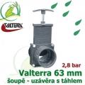 Valterra šoupě 63 mm originál, tažný PVC uzávěr