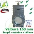 Valterra šoupě 160 mm originál, tažný PVC uzávěr