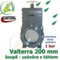 Valterra šoupě 200 mm originál, tažný PVC uzávěr