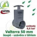 Valterra šoupě 50 mm unibody originál, tažný PVC uzávěr