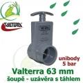 Valterra šoupě 63 mm unibody originál, tažný PVC uzávěr