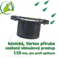 PVC příruba fóliová 110 mm kónický, fóliový prostup zesílený kónický pro kruhové a Vortex nádrže