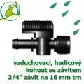 Vzduchovací (hadičkový) kohout pro 16 mm, s externím závitem 3/4