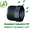 šroubení jezírková PP redukce, externí 2 na interní 1 1/2