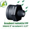 šroubení jezírková PP redukce, interní 2 na externí 1 1/2
