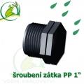 Šroubení jezírková PP zátka 1