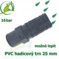 PVC lepící trn 25 mm, na 25-27 mm hadici