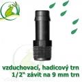 Mini trn ext. závit 1/2 na 9 (10 mm) na vzduchovací hadičky a jezírkové hadice