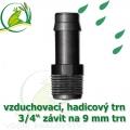 Mini trn ext. závit 3/4 na 9 (10 mm) na vzduchovací hadičky a jezírkové hadice