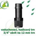 Mini trn ext. závit 3/4 na 12 (13 mm) na vzduchovací hadičky a jezírkové hadice