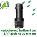 Mini trn ext. závit 3/4 na 19/20 mm na vzduchovací hadičky a jezírkové hadice