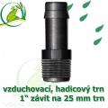 Mini trn ext. závit 1 na 25 mm na vzduchovací hadičky a jezírkové hadice