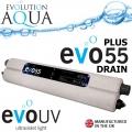 UVC zářič Evolution Aqua EVO 55 Watt PLUS - drain, profi UV zářič s vypouštěcím ventilem