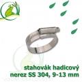 stahovák nerez 9-13 mm, UK made S304, šíře pásky 9,5 mm