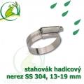 stahovák nerez 13-19 mm, UK made S304, šíře pásky 9,5 mm