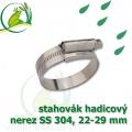 stahovák nerez 22-29 mm, UK made S304, šíře pásky 12 mm