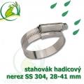 stahovák nerez 28-41 mm, UK made S304, šíře pásky 12 mm