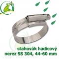 stahovák nerez 44-60 mm, UK made S304, šíře pásky 12 mm
