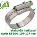 stahovák nerez 104-127 mm, UK made S304, šíře pásky 12 mm