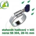 Spona, stahovák 28-41 mm, nerez, S304 s klíčem