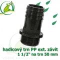 Trn přimý PP, závit ext. 1 1/2 na 50 mm