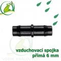 Spojka přimá PP 6 mm vzduchovací, hadičková