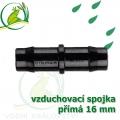 Spojka přimá PP 16 mm vzduchovací, hadičková