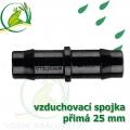 Spojka přimá PP 25 mm vzduchovací, hadičková