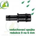 Spojka redukce PP, 9-10x6 mm, vzduchovací, hadičková