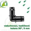 Spojka koleno 90°, PP 9-10 mm vzduchovací, hadičková