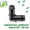 Spojka koleno 90°, PP 19-20 mm vzduchovací, hadičková
