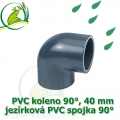 PVC koleno 40 mm, jezírková spojka 90°, lepení/lepení