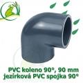 PVC koleno 90 mm, jezírková spojka 90°, lepení/lepení