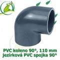 PVC koleno 110 mm, jezírková spojka 90°, lepení/lepení