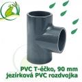 PVC T-éčko, 90 mm, jezírková rozdvojka, lepení/lepení