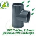 PVC T-éčko, 110 mm, jezírková rozdvojka, lepení/lepení