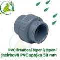 PVC šroubení 50 mm jezírkové, rozpojitelné, lepení/lepení