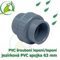 PVC šroubení 63 mm jezírkové, rozpojitelné, lepení/lepení