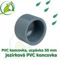PVC koncovka 50 mm, jezírková zátka