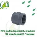 PVC spojka lepení 32 mm na 1 interní šroubení, jezírková