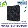 Matala deska SM150, 120x100x5cm, černá samonosná, pevná