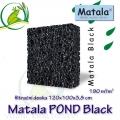 Matala deska POND BLACK 100x120x3,8cm, černá - filtrační