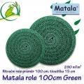 Matala kulatá polo jemná role GREEN, průměr 100 cm, výška 15 cm